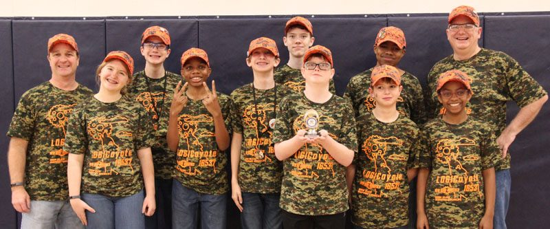 LOGICoyote after receiving their award at UVA qualifier that advanced them to states