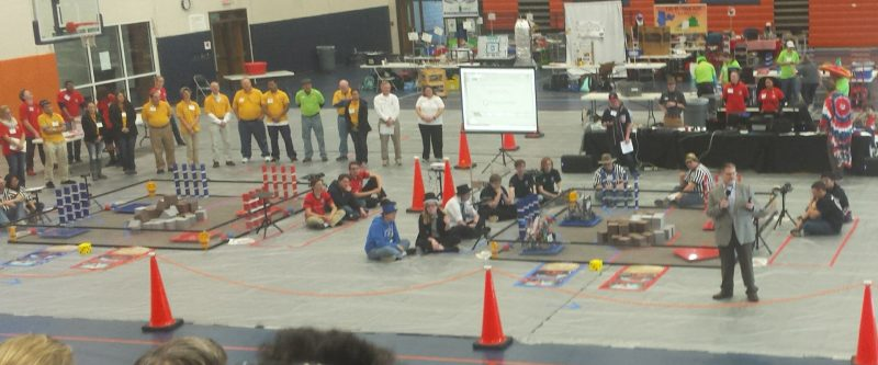 Opening ceremonies North Central qualifier at Orange Nov 2017